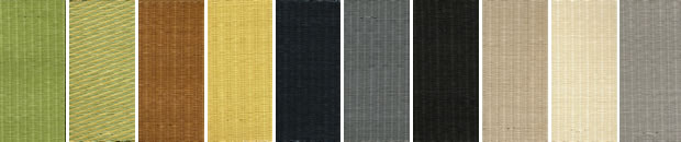 和紙表のカラー見本